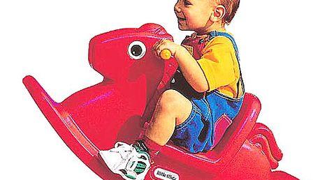 Houpací koník červený pro děti od 12 měsíců