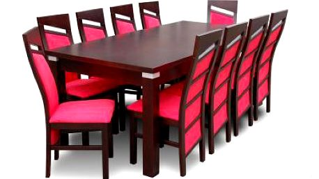 Rozkládací stůl a židle (10ks) - vellký set