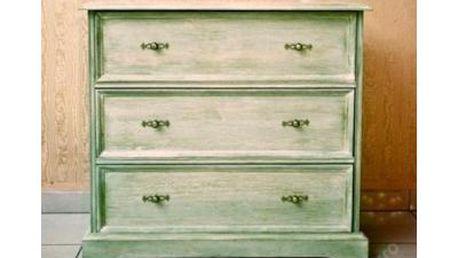 Dřevěná komoda 82x50x115 kartáčované dřevo