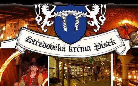 Písek - Silvestrovský rej ve středověké krčmě v královském městě Písku pro 1 osobu. Čeká Vás bohatá hostina, živá hudba, stylový program, ohňostroj a spousta jiné zábavy. Vše za úžasnou cenu!