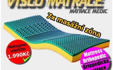 Vysoká luxusní matrace DUO-VISCO 180x200/21cm