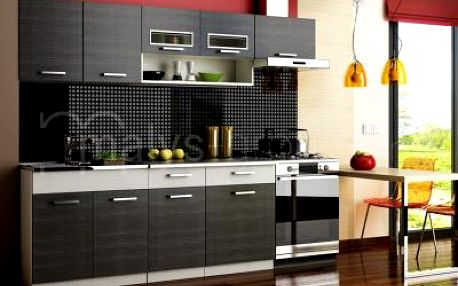 Kuchyňská linka MORENO black 240cm