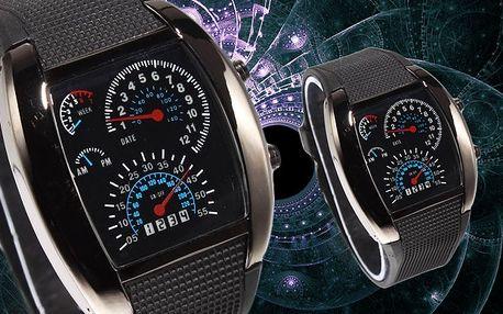 Sportovní binární LED hodinky