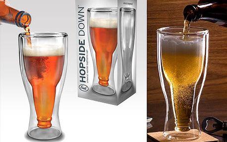 Obrácená sklenice!! Pivní láhev!! Skvělý dárek pro každého muže!!