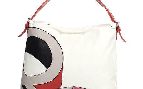 Dámská bílá taška se vzorem na přední straně United Colors of Benetton