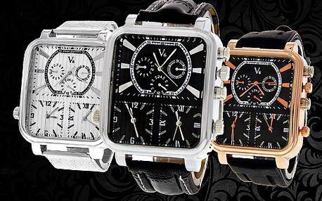 Hodinky V6 Super Speed !! Tři časové zóny!! Luxusní pánské hodinky!! 4 barvy!!