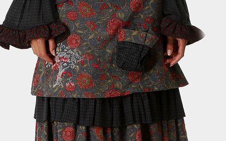 Dámská šedá sukně se vzorem Ian Mosh