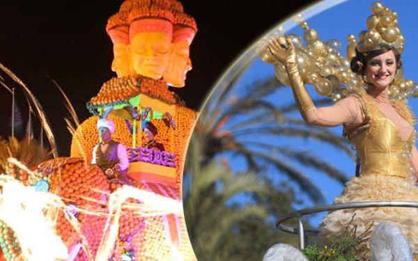 Zájezd pro JEDNOHO na karneval, slavnost světel v Nice a festival citrusů v Mentonu