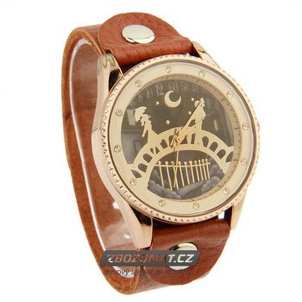 Analogové hodinky s romantickým ciferníkem!