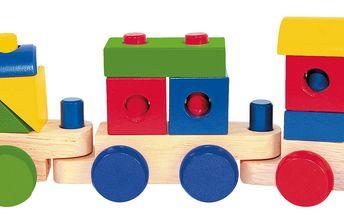 Skládací nákladní vlak - dva vagony