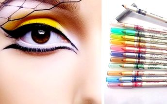 Sada tužek na oči - 12 barev. Prozařte zimní dny barevně malovanými linkami, které pozvednou náladu nejen vám, ale i ostatním, co Vám budou hledět do očí, tužky lze použít samostatně a nebo rozetřít do ztracena a zafixovat stínem ve stejné barvě.