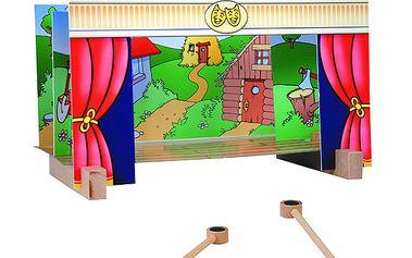 Magnetické divadélko se čtyřmi různými pozadími a figurkami