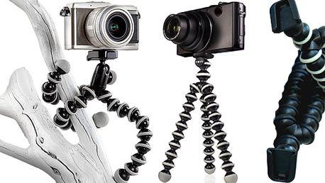 Unikátní kloubový stativ pro klasické digitální kompakty či videokamery