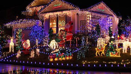 Vánoční LED světelný řetěz se solárním panelem! Neplaťte za elektrickou energii!
