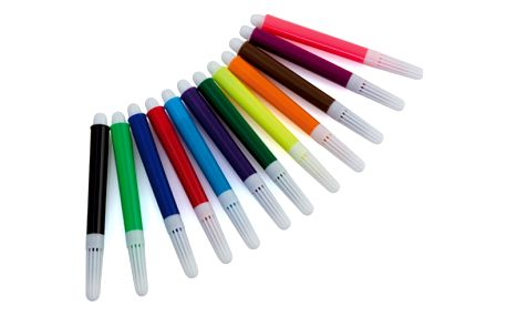 12 dílná sada barevných fixů v průhledném obalu - dodání do 2 dnů