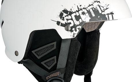 Helma na lyže i snowboard Scott Rumble white matte