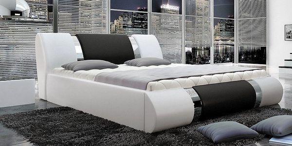 SCONTO DANIEL luxusní čalouněná postel 180 x 200 cm