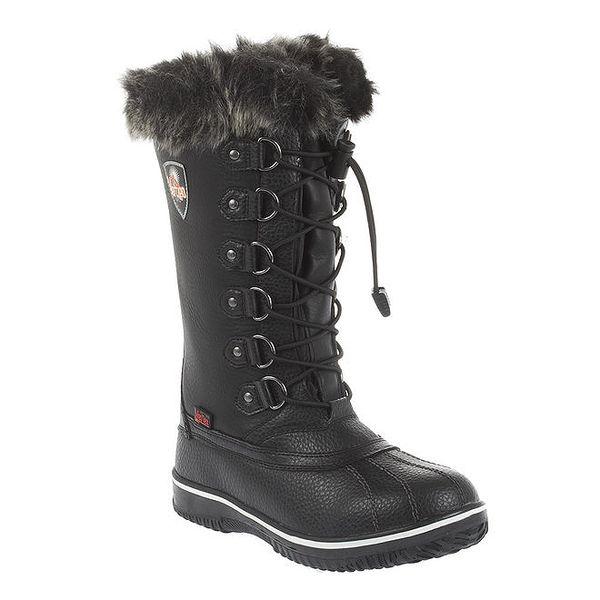 Dámské vysoké černé zimní boty Vertigo