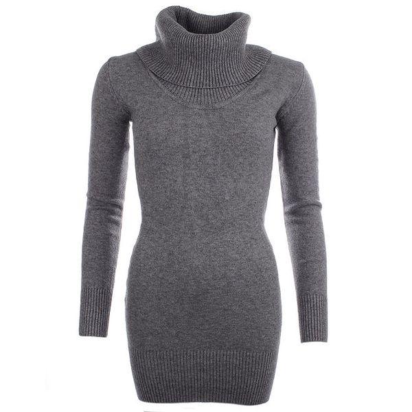 Dámský šedý svetr s rolákem Beauty Women