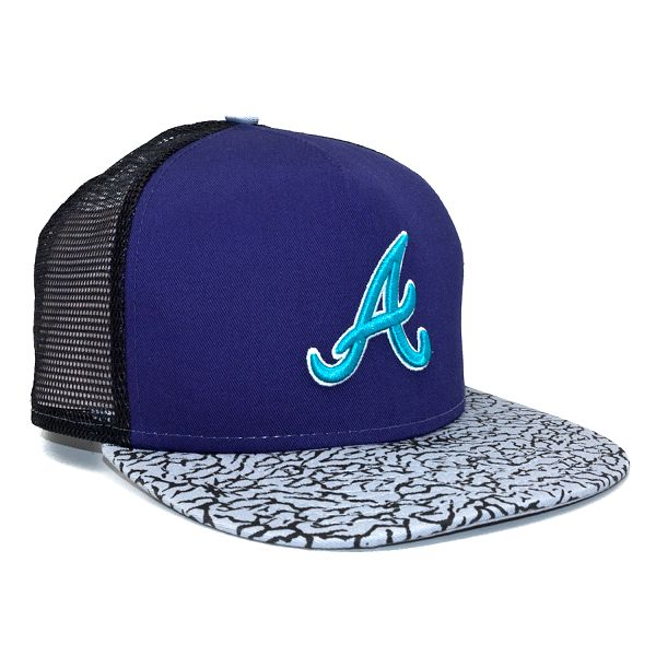 Kšiltovka New Era Elephant Hook Atlanta Braves Purple/Grey Strapback