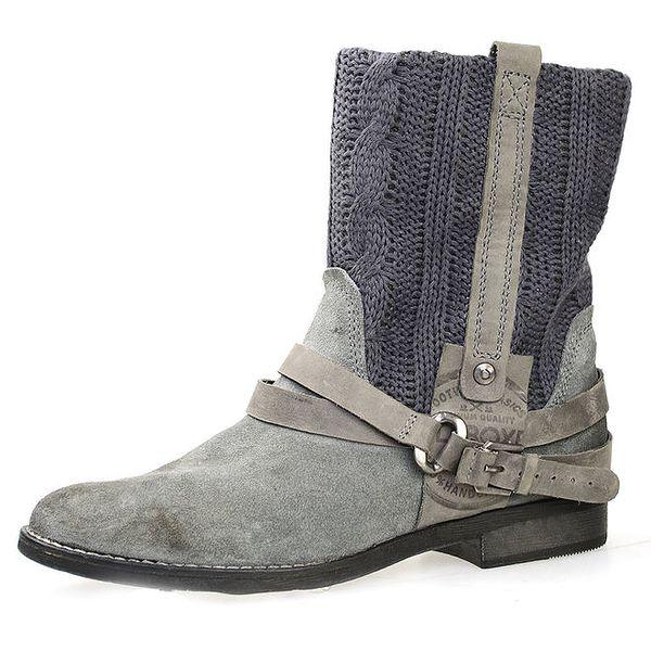 Dámské šedé boty s plastickým vzorem Bullboxer
