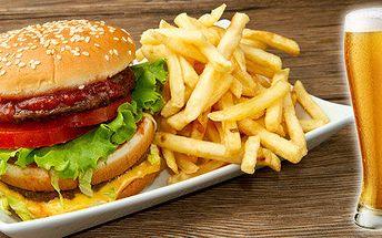 Dva poctivé Bacon Burgery a k tomu 4 nápoje z aktuální nabídky