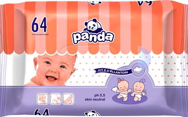 Bella PANDA - vlhčené ubrousky 64ks