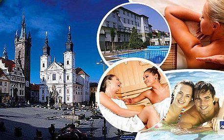 Pobyt v hotelu roku 2012 Wellness hotel Central*** Klatovy - regionální vítěz prestižní soutěže Czech Hotel Awards 2012. Čeká vás masáž lávovými kameny, volný vstup do vnitřního vyhřívaného bazénu, finské sauny, solná sauna, sluneční louka.