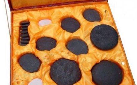 Luxusní dárkové balení s lávovými masážními kameny