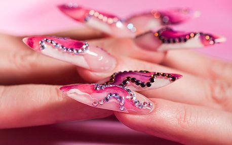 Gelové nehty včetně zdobení. Nové nebo doplnění!