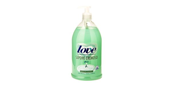 Mýdlo Love Soap Muschio Bianco, 1000ml