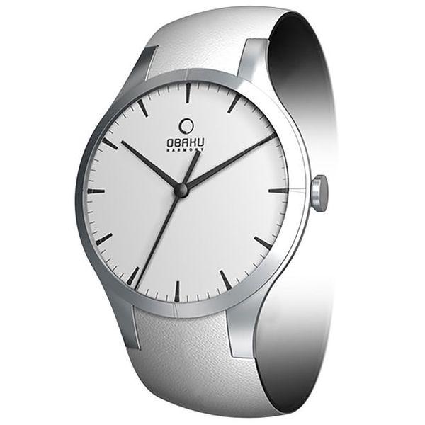 Dámské minimalistické hodinky ve stříbrné barvě Obaku