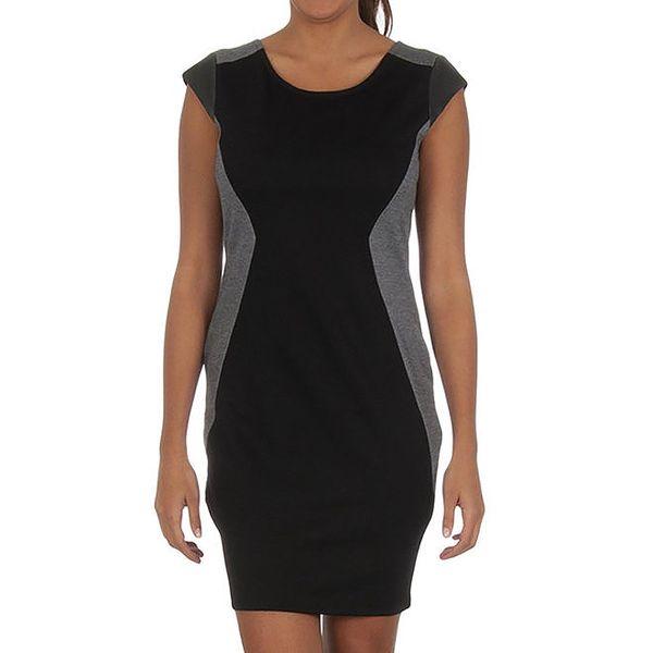Dámské černé šaty s šedými prvky Vila Clothes
