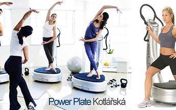 1 lekce cvičení na Power Plate v centru Brna! 30 minut cvičení = 1,5 hodiny dření v posilovně! Power Plate je daleko efektivnější než jiné tréninkové techniky, tvaruje postavu, zvýší svalovou hmotu a zlepší Vaši celkovou kondici!