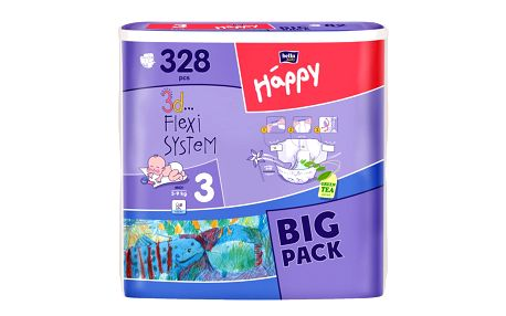 Plenky Bella Happy Midi Big Pack - 328 ks