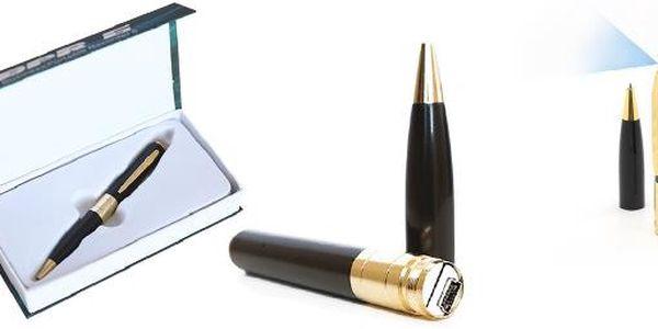 Špionské pero s kamerou, foťákem a diktafonem. S tímto luxusním špionským perem si budete připadat jako tajný agent .