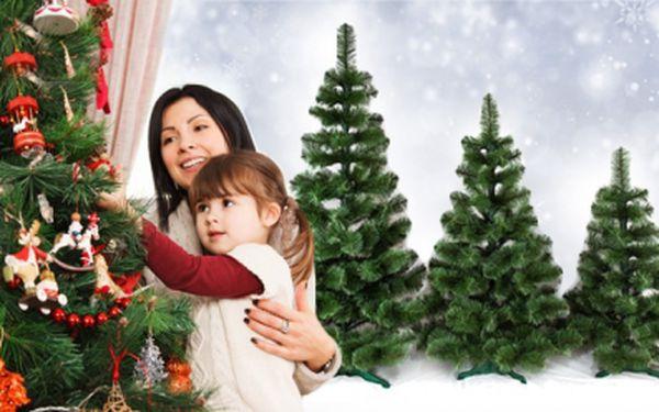 UMĚLÝ VÁNOČNÍ STROMEK BOROVICE De Lux 220 cm se stabilním stojanem! Udělejte si krásné Vánoce!