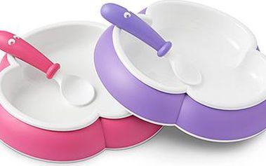 Talířek se lžičkou se kterým se vaše dítko naučí snadno jíst samo