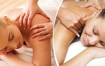 Relaxační masáž zad a šije 60 minut vhodné i pro těhotné ženy