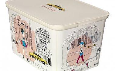 Úložný box AMSTERDAM S Miss New York, Curver, 29 x 20 x 14 cm