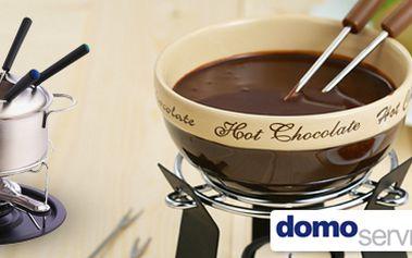 Sada na čokoládové fondue: 6dílná nebo 11dílná. Pro chvíle pohody!
