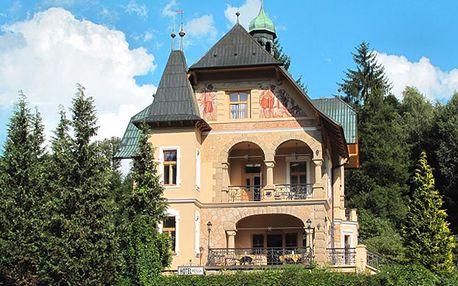 Hotel Vládní vila Luhačovice s polopenzí pro dva