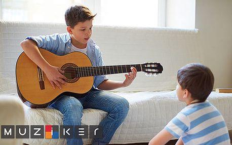 Klasický a akustický kytarový set pro začínající hudebníky