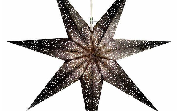 Závěsná svítící hvězda Antique Black, 60 cm