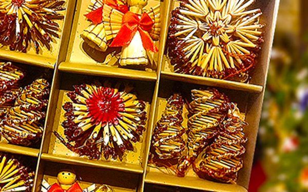 Ruční práce! Slaměné vánoční ozdoby ve 3 barevných variantách, poštovné v ceně.