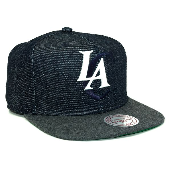 Kšiltovka Mitchell & Ness Team Up Los Angeles Clippers Denim Snapback