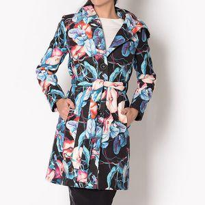 Dámský květinový kabát s kapucí Santa Barbara