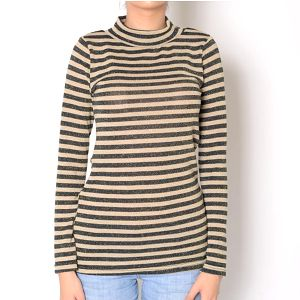 Dámský pruhované tričko s rolákem a třpytkami Santa Barbara