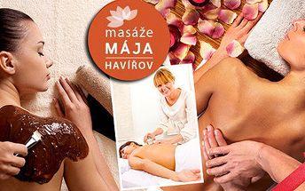 Originální vánoční dárek - masáž zad s baňkováním nebo čokoládová masáž