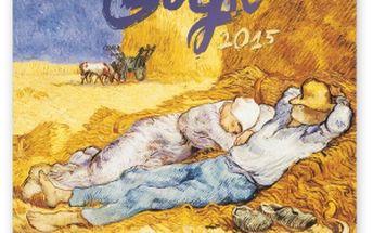 Vincent van Gogh, poznámkový kalendář 2015, 30 x 30 cm